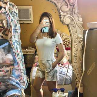 Black & White Stripes Shorts