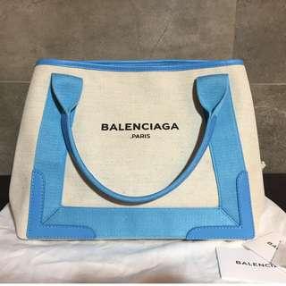 全新 Balenciaga Navy Cabas Tote Bag 帆布袋 (內含原裝化妝袋) Fendi Chanel Celine Dior YSL Prada