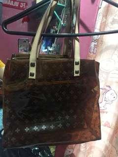 Brown transparent bag