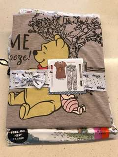 Brand New Limited Edition Winnie the Pooh Disney Jersey Top and Viscose Leg Pants Pyjamas - ultimate comfort and super adorable happy prints - See inside!!
