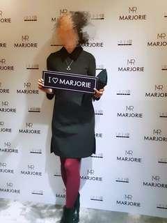 台灣設計品牌 Marjorie 瑪喬麗小姐 復古 法式經典 女明星 帝凡內早餐 黑色 小洋裝