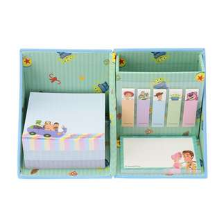 Japan Disneystore Disney Store Toy Story Pixar Cube Sticky Note Memo Pad with Pen Stand
