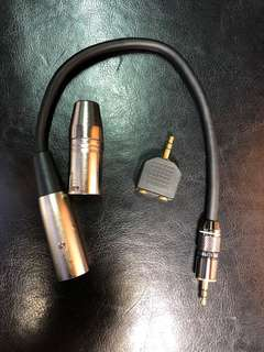 Audio adapters 3.5mm jack XLR