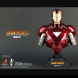 Hot Toys Iron Man 2 Mark VI 1/4 Scale Collectable Bust Exclusive