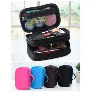 DUAL-SIDE cosmetic bag / Tas kosmetik 2 sisi / Travel pouch