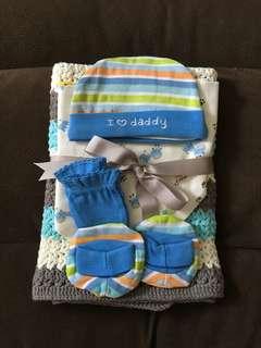 Baby Boy Gift Set (Handmade Blanket)