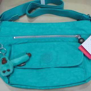 KIPLING SYRO COOL TURQUOISE SHOULDER BAG BRAND NEW AUTHENTIC