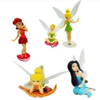 5pcs Tinkerbell and Friends Cake Topper Figurine Kids