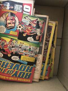 Old comics and magazines from 80s 90s