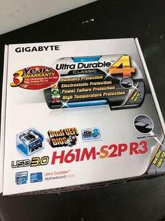 GIGABYTE H61M-S2P R3 (Brand New)