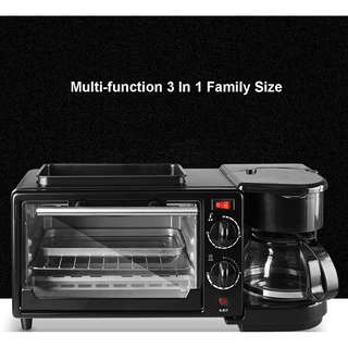 3 in 1 toaster +oven + electric coffee maker