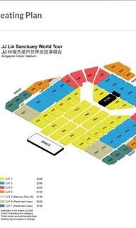 LF / WTB JJ Lin concert ticket 2018