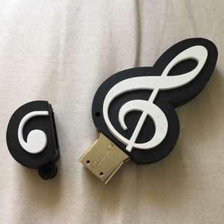 Musical note usb hard drive 32GB