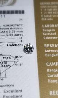 GIA鑽石 50份D色