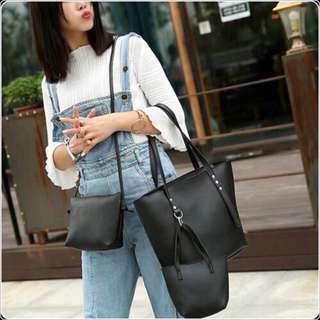 Set of 3 Simple Handbags
