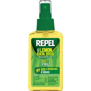 Repel Lemon Eucalyptus Natural Insect Mosquito Repellent 4oz Pump Spray