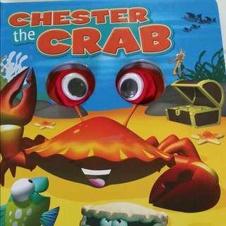 VALUE BUY Chester The Crab with Wiggle Eyes Hardcover & pages Very entertaining for story telling