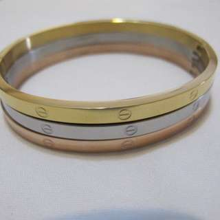 FASHION JEWELRY TRI-COLOR STAINLESS BANGLE NEW HIGH-QUALITY