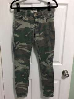 Elizabeth and Jones camouflage pants