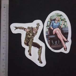 C5B DC Comics Green Arrow & Felicity Smoak Sticker Stickers