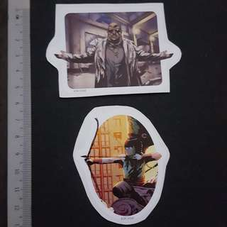 C5B DC Comics Emiko Queen & Clock King Sticker Stickers