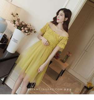 Embroider Lace Mesh Dress