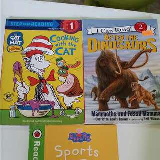 VALUE BUY 3 Books from Ladybird Read It Yourself Series 1. Peppa Pig Sports Day 2.Dr Seuss's Cooking With The Cat 3. After The Dinosaurs