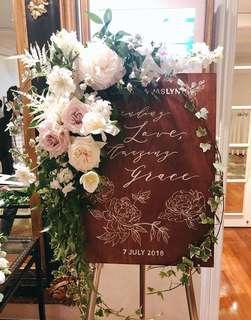 Wedding Wooden/Acrylic Signage