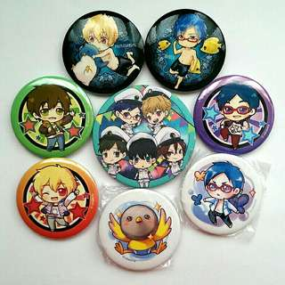 Free! Button Badges