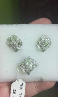 14k White Gold with Real Diamonds