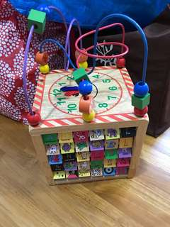 Sensory wooden toy box