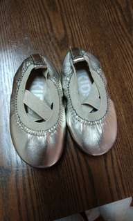Ballet gold flat shoes size 7