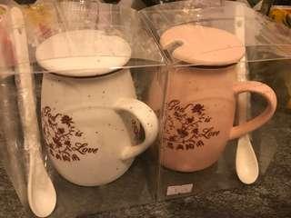 恩典系列-玻璃杯一套連杯蓋及匙羹