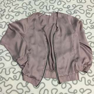 Soft Purple Loose Jacket