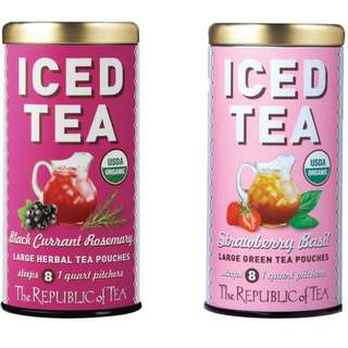 5 Different Fruity Flavors of ICED TEA from Republic of Tea - Product of USA