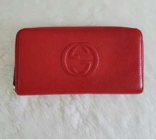 Gucci wallet zippy Leather