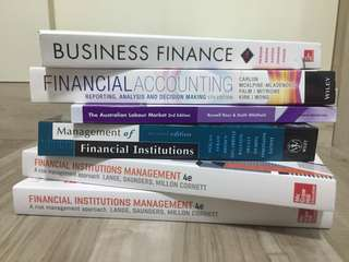 Accounting & Banking Textbooks