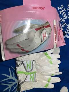 Summer Gloves Mizuno Ladies Lime
