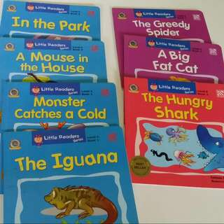 VALUE BUY ! 7 Books From Little Readers Series 1. The Iguana Level 4 2. Monster Catches A Cold Level 4 3. A Mouse In The House Level 4 4. In The Park Level 4 5. A Big Fat Cat Level 5 7. The Greedy Spider Level 5 8. The Hungry Shark Level 6