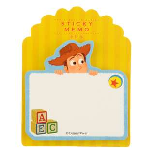 Japan Disneystore Disney Store Woody Pixar Die Cut Sticky Notes
