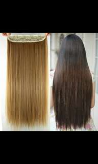 <<Preorder>> korean Natural straight clip on hair extension *Waiting time 15days after payment is made *pm to order