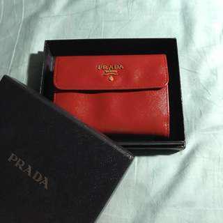 BNIB Prada Bifold Wallet in sexy red