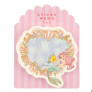 Japan Disneystore Disney Store Ariel the Little Mermaid & Flounder Die cut Sticky Memo