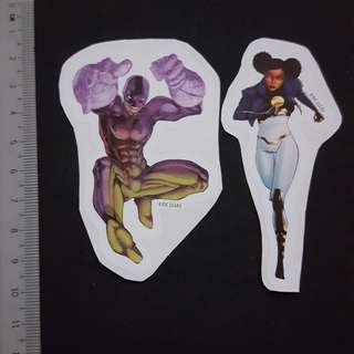 C5B DC Comics Power Girl & Bunker Sticker Stickers
