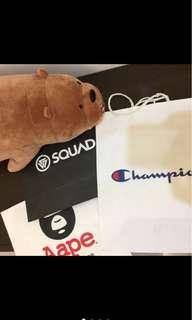 Squad Aape Champion紙袋