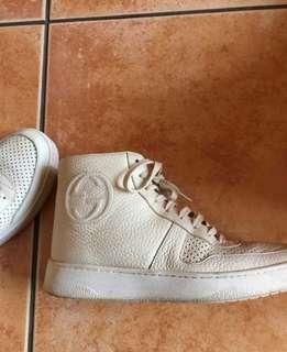 正品Gucci 高筒白鞋