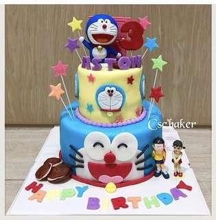 多啦A夢蛋糕 叮噹蛋糕 生日蛋糕 立體蛋糕 忌廉蛋糕