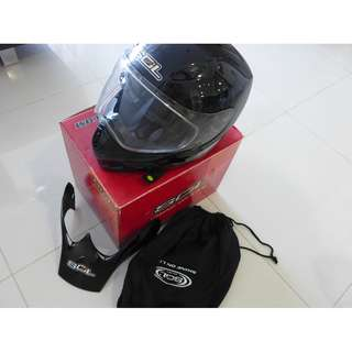 HELMET COMPLETE WITH BOX AND BAG TOP CONDITION