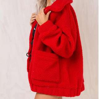 I AM GIA Red Pixie Coat