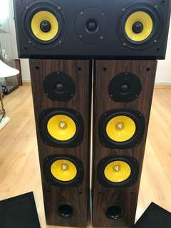 Orix Speakers & VAV Sets for sell 1 speaker connections is damage pls check photos